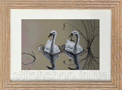 B346 Пара лебедей. Luca-S. Набор для вышивания нитками