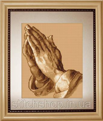 B350 Молящие руки. Luca-S. Набор для вышивания нитками