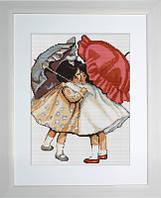 B378 Примирившиеся девочки. Luca-S. Набор для вышивания нитками
