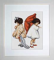 B379 Рассерженные девочки. Luca-S. Набор для вышивания нитками