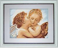 B400 Первый поцелуй - деталь. Luca-S. Набор для вышивания нитками