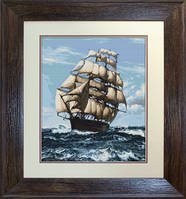 B438 Корабль. Luca-S. Набор для вышивания нитками