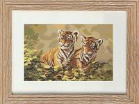 B442 Тигрята. Luca-S. Набор для вышивания нитками