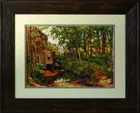 B456 Мельница в лесу. Шишкин. Luca-S. Набор для вышивания нитками