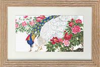 B462 Павлины в цветах. Luca-S. Набор для вышивания нитками