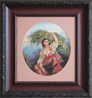 B466 Итальянка с цветами. Luca-S. Набор для вышивания нитками