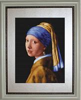 B467 Девушка с жемчужиной. Luca-S. Набор для вышивания нитками