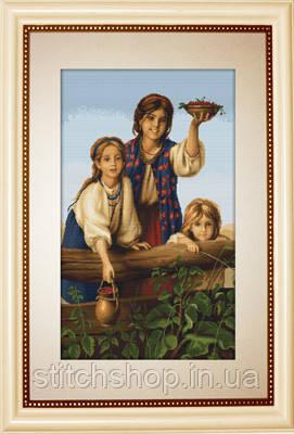 """B489 """"Купите ягод"""" Платонов Харитон Платоновичь. Luca-S. Набор для вышивания нитками"""
