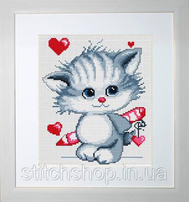 B182 Котёнок. Luca-S. Набор для вышивания нитками