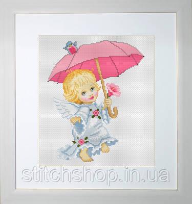 B192 Ангелочек c зонтиком. Luca-S. Набор для вышивания нитками