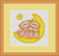 B197 Медвежата. Luca-S. Набор для вышивания нитками