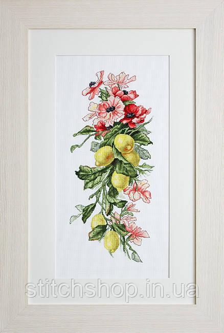 B210 Цветы и лимоны. Luca-S. Набор для вышивания нитками