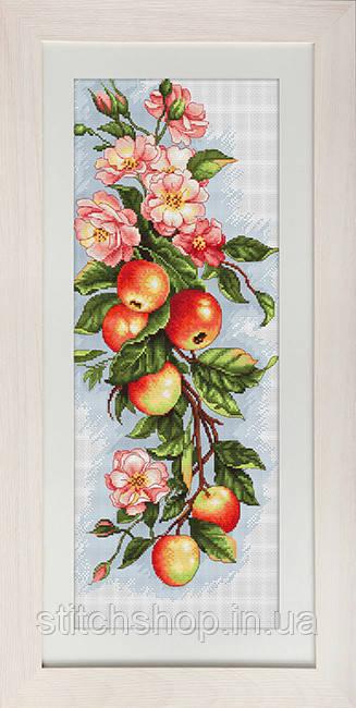 B211 Композиция с яблоками. Luca-S. Набор для вышивания нитками