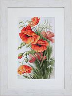 B213 Маки. Luca-S. Набор для вышивания нитками
