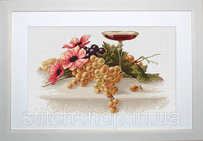 B214 Цветы и виноград. Luca-S. Набор для вышивания нитками