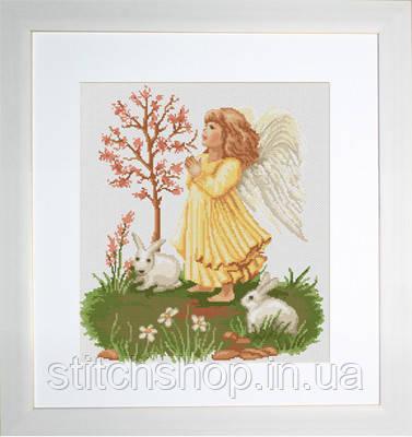 B261 Молящийся ангелочек. Luca-S. Набор для вышивания нитками