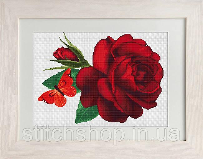 B294 Роза. Luca-S. Набор для вышивания нитками