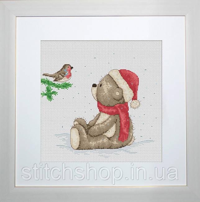 B1001 Медвежонок Бруно. Luca-S. Набор для вышивания нитками