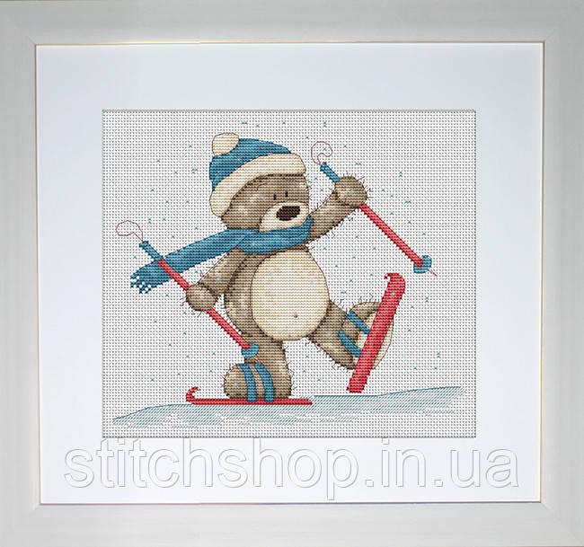 B1004 Медвежонок Бруно. Luca-S. Набор для вышивания нитками