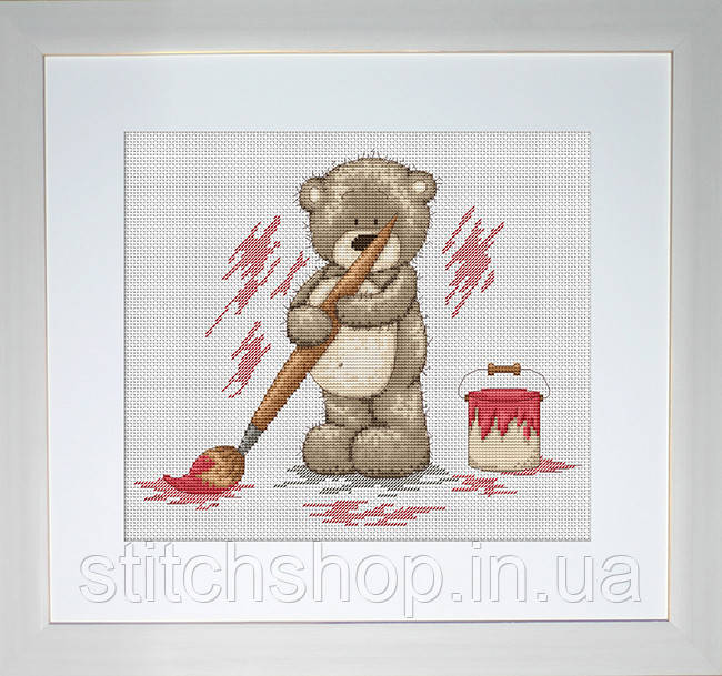 B1006 Медвежонок Бруно. Luca-S. Набор для вышивания нитками