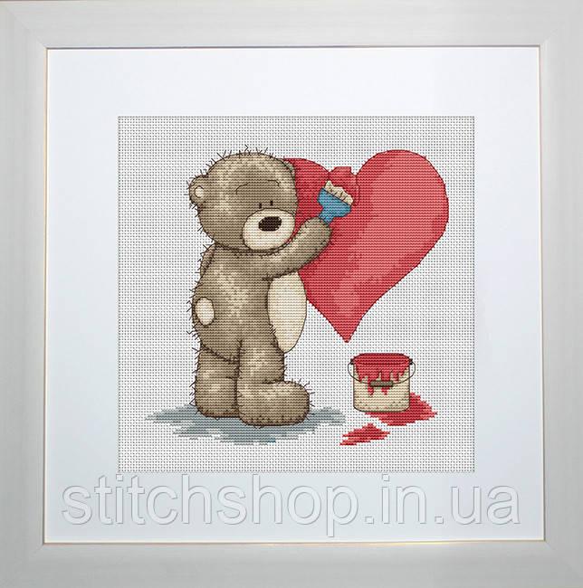 B1007 Медвежонок Бруно. Luca-S. Набор для вышивания нитками