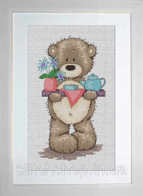 B1008 Медвежонок Бруно. Luca-S. Набор для вышивания нитками
