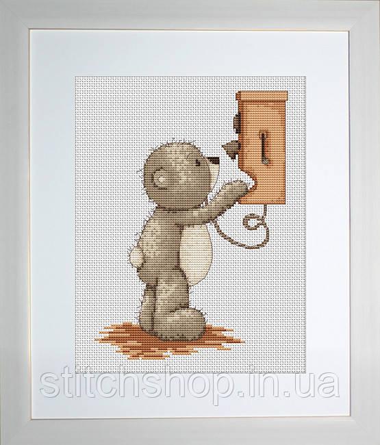 B1010 Медвежонок Бруно. Luca-S. Набор для вышивания нитками