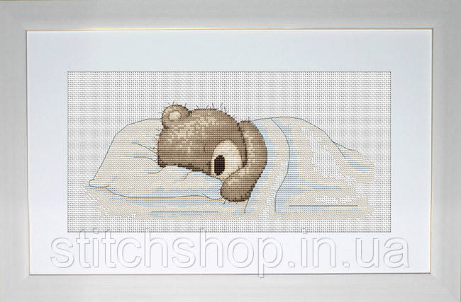 B1036 Медвежонок Бруно. Luca-S. Набор для вышивания нитками