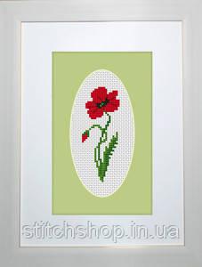 B1061 Мак. Luca-S. Набор для вышивания нитками