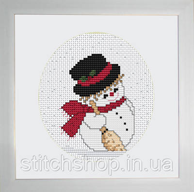 B1071 Снеговичок. Luca-S. Набор для вышивания нитками