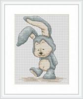 B1078 Зайчёнок Фанни. Luca-S. Набор для вышивания нитками