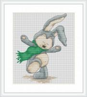 B1079 Зайчёнок Фанни. Luca-S. Набор для вышивания нитками
