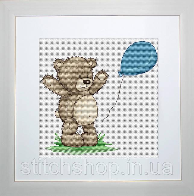 B1081 Медвежонок Бруно. Luca-S. Набор для вышивания нитками