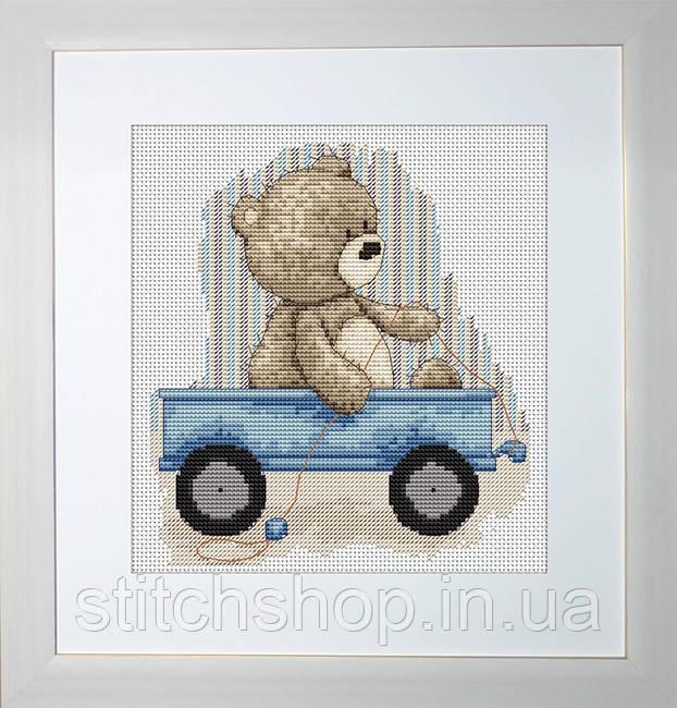 B1082 Медвежонок Бруно. Luca-S. Набор для вышивания нитками