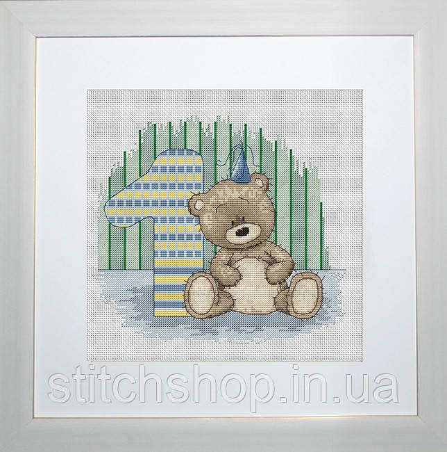 B1087 Медвежонок Бруно. Luca-S. Набор для вышивания нитками