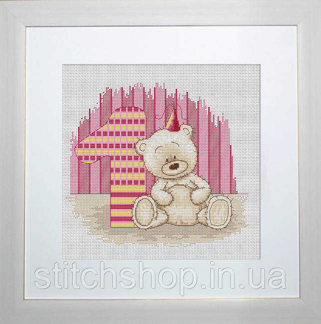 B1088 Медвежонок Бруно. Luca-S. Набор для вышивания нитками