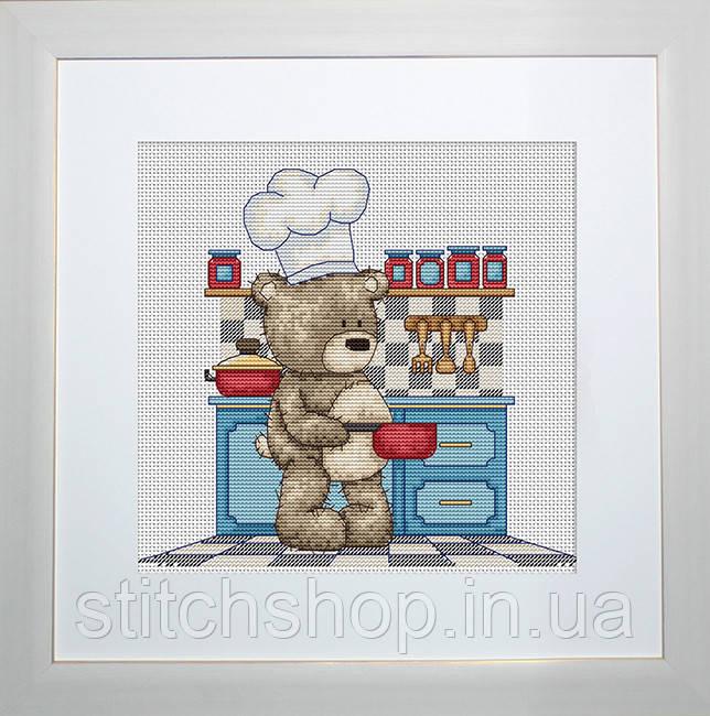 B1089 Медвежонок Бруно. Luca-S. Набор для вышивания нитками
