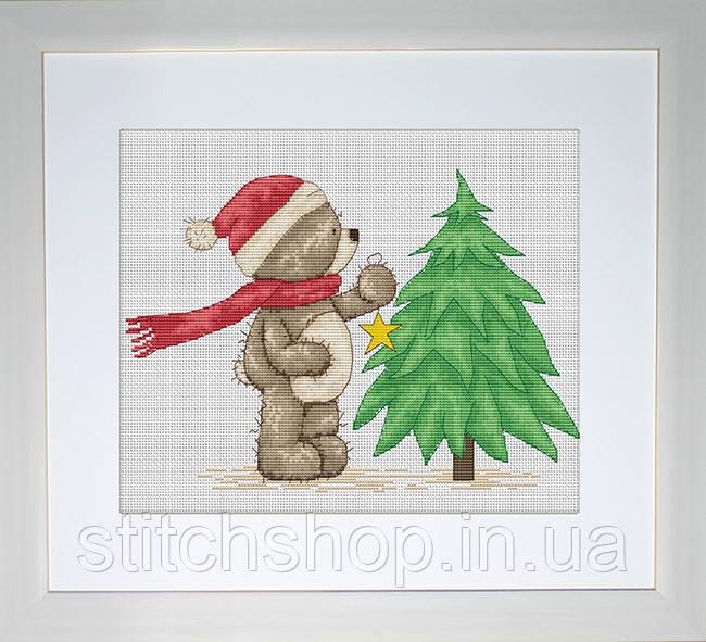 B1094 Медвежонок Бруно. Luca-S. Набор для вышивания нитками