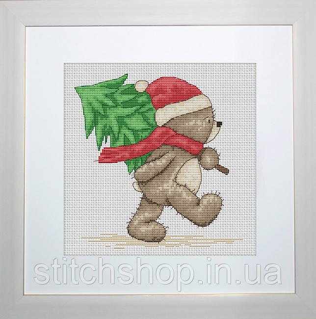 B1095 Медвежонок Бруно. Luca-S. Набор для вышивания нитками