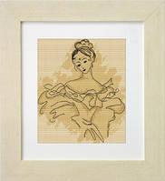 B2211 Балерина. Luca-S. Набор для вышивания нитками