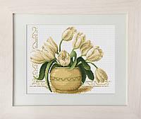 B2217 Ваза с тюльпанами. Luca-S. Набор для вышивания нитками