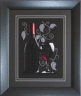 B2220 Бутылка с вином. Luca-S. Набор для вышивания нитками