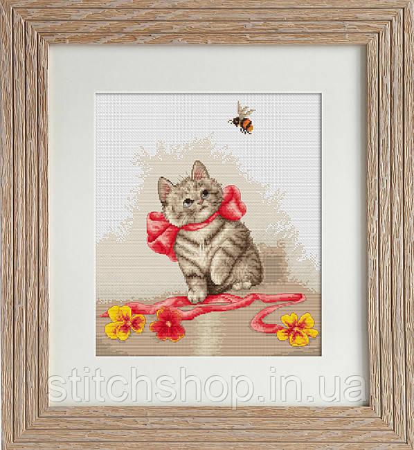 B2228 Котёнок . Luca-S. Набор для вышивания нитками