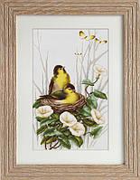 B2240 Птички в гнёздышке. Luca-S. Набор для вышивания нитками