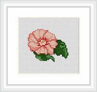 B013 Розовый цветок. Luca-S. Набор для вышивания нитками