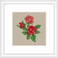 B033 Розы. Luca-S. Набор для вышивания нитками