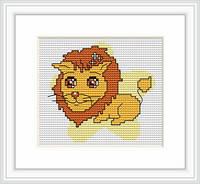 B054 Лев. Luca-S. Набор для вышивания нитками