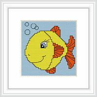 B080 Рыбка. Luca-S. Набор для вышивания нитками