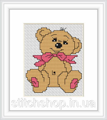 B087 Медвежонок. Luca-S. Набор для вышивания нитками