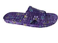 """Детский летний тапочек """"TS Shoes"""" фиолетовый с принтом"""